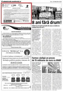 Comunicat presa Monitorul Cj - 22 februarie 2016