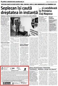 Comunicat presa Monitorul Cj - 25 ianuarie 2016